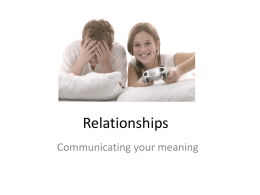 Relationships - Family and consumer science