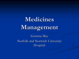 Medicines Management - Welcome to Health Links