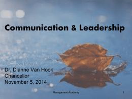 Communication and Leadership Management Academy