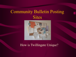 Community Bulletin Posting Sites