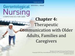 Chapter 4: Aging Changes that Affect Communication