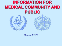 Module XXIV - International Atomic Energy Agency