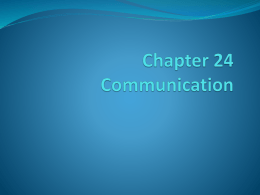 Chapter 24 Communication