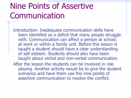 Nine Points of Assertive Communication
