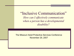 """Inclusive Communication"": How can I effectively communicate when"