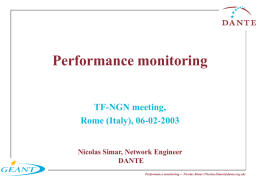 Performance Monitoring Infrastructure