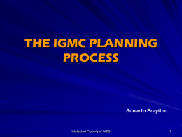 the eight-step igmc planning process