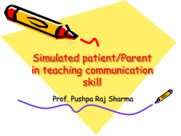 Simulating Patient - Pushpa Raj Sharma