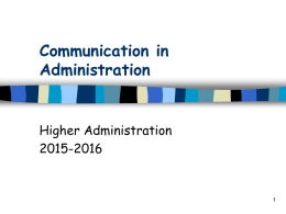 Communciation in Administration