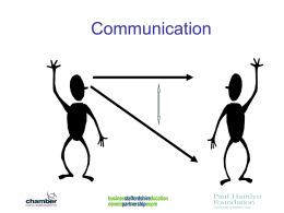 Communication Skills PowerPoint