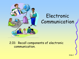 Electronic Communications - South Columbus High School