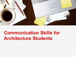 Communication Skills for Architecture Students