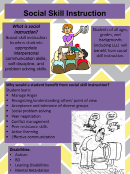 Social Skill Instruction