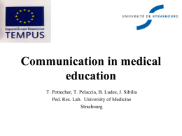 Pottecher – Communication in medical education