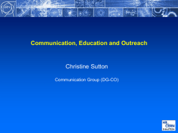 CommunicationEducationOutreach_March2014-CS - Indico