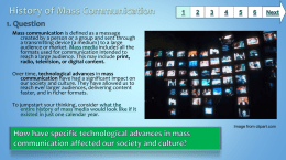History of Mass Communication - Baltimore County Public Schools