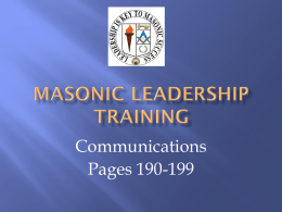 Module 08 - Communications - The Grand Lodge of Florida