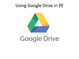 Using Google Drive in PE