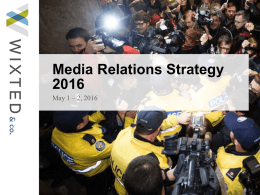 Session 3_Media Relations Strategy 2016_Wixtedx