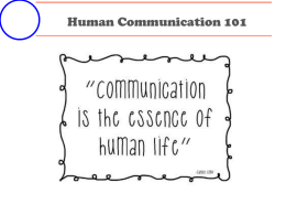 Communication 101 Power Point