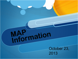 MAP Data Training