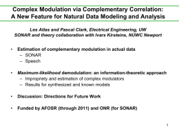 Complex Modulation via Complementary Correlation