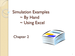 Simulation Examples - Department of Computer Science