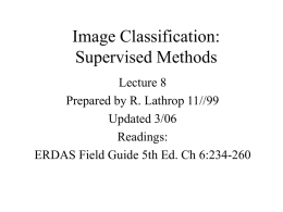 Image Classification: Supervised Classification