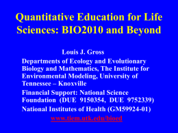 Integrating Education and Biocomplexity Research