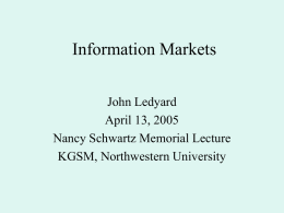 Combinatoric Information Markets