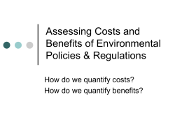 Introduction to the Costs and Benefits of Environmental