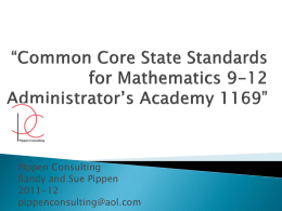 Common Core State Standards for Mathematics 9