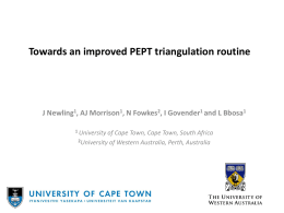 Towards an improved PEPT triangulation routine