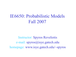 IE6201: Manufacturing Systems Spring 2006