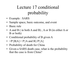 Lecture 17 conditional probability