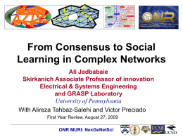 from consensus to social learning