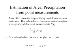Estimation of Areal Precipitation from point measurements