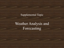 WX Analysis and Forecasting