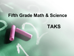 Fifth Grade Math TAKS