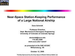 Station-Keeping Performance of a Large High-Altitude