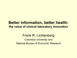 the value of clinical laboratory innovation