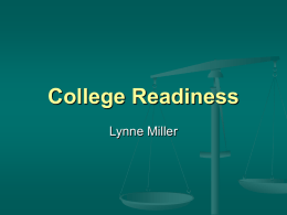 College Readiness - MELMAC Education Foundation