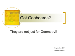 Geoboards - fcpssecmath