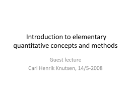 Introduction to elementary quantitative concepts and methods