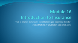 HSF-Module 17: Introduction to Insurance