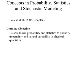 Random Variables, Probability Distributions and Moments