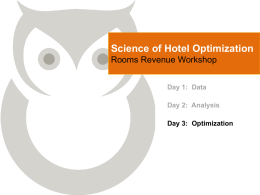 Science of Hotel Optimization