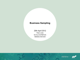 Annex B5.13 Business Sampling