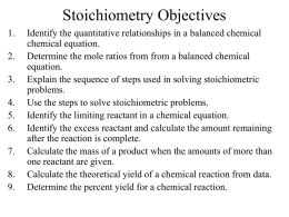 Stoichiometry w RICE