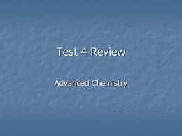 Test 4 Review - Ralph C. Mahar